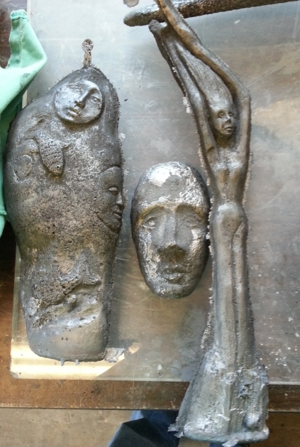 Cast from recycled Detroit iron
