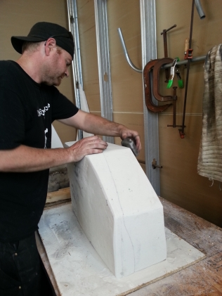 Casey Westbrook helping to clean up my mold