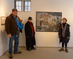 Artists; John Wood with Ruby, K.A. Letts, and Anne Knight Weber,  at the Whitdel Arts Gallery