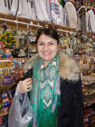 Ivanna wearing her Hutsul Gerdan